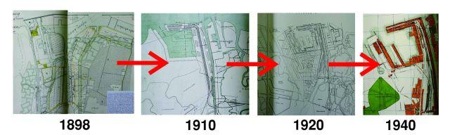 Pembangunan Perak tak langsung menjadi seperti sekarang ini, ada beberapa kali pergantian rancangan, gambar peta rancangan paling kanan menunjukan kondisi Perak di tahun 1940, dimana pengembangan pelabuhan tak pernah dilakukan lagi setelah tahun ini hingga sekarang.
