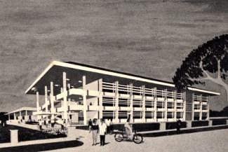 Gedung Pusat IKIP Surabaya (sketsa)