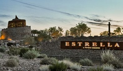 Sign that says Estrella Village