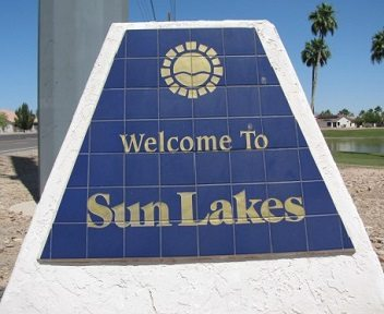 Sun Lakes welcome sign.