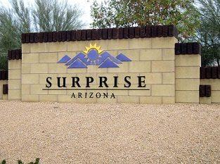 Surprise Arizona signage.