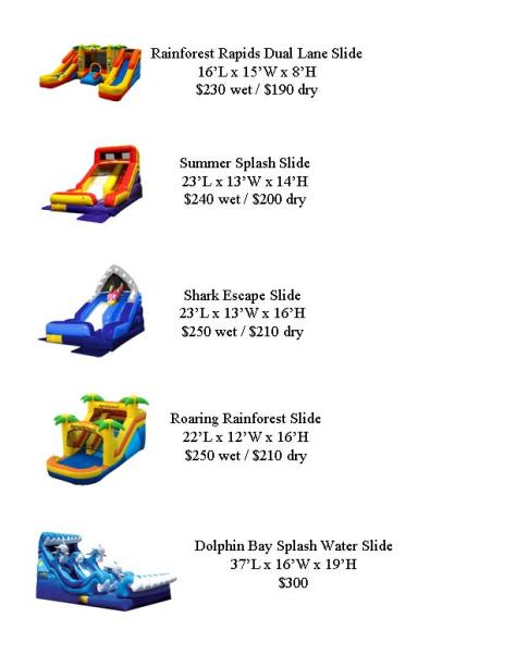 FS Water Slide Options