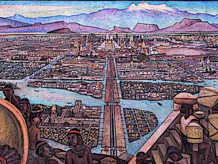 Aztec-City-Murales-Rivera-Markt-in-Tlatelolco