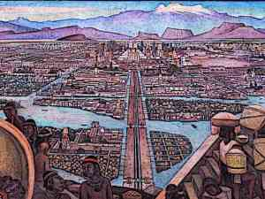 Aztec-City-Murales-Rivera-Markt-in-Tlatelolco