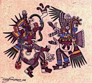 Aztec-Gods-Quetzalcoatl-Tezcatlipoca