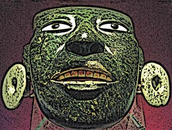 Aztec Greenstone Mask