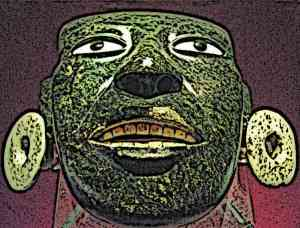 Aztec-Greenstone-Mask