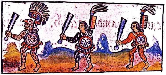 Aztec-Triple-Alliance-Florentine-Codex-IX-Aztec-Warriors