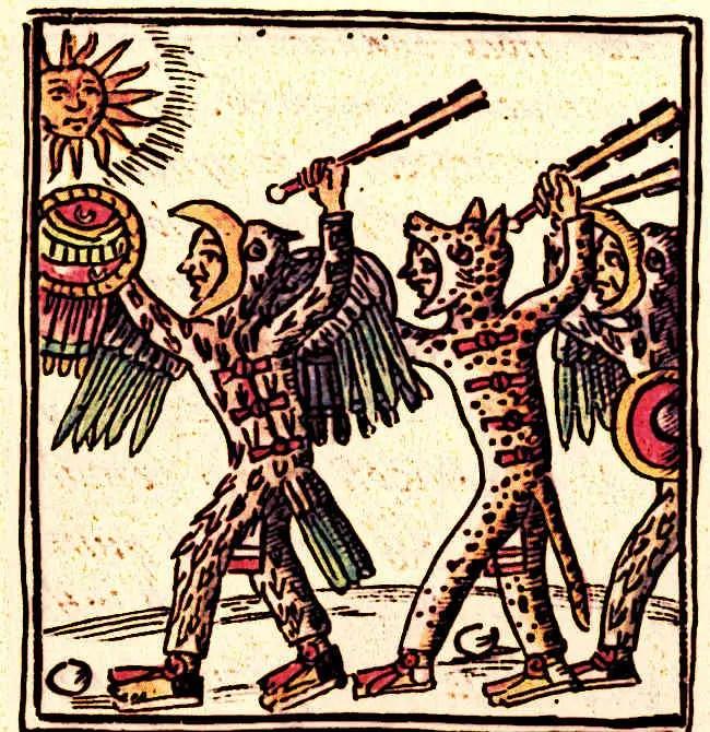 Aztec-Warriors-(Florentine-Codex)
