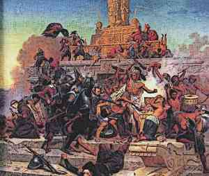 Hernan-Cortes-Storming-of-the-Teocalli-by-Cortez-and-His-Troops