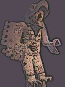 Aztec Eagle Warrior Statue - Aztec Eagle Warriors used specific kinds of clothing and costumes which distinguished them from ordinary warriors and represented the order to which they belonged