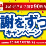 2019/1/31伊藤ハム おかげさまで創業90周年 感謝をずっとキャンペーン
