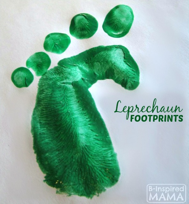 DIY Leprechaun Footprints and Other Leprechaun Shenanigans - B-Inspired Mama