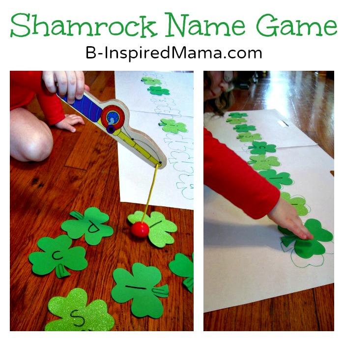 Shamrock Name Game at B-InspiredMama.com