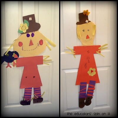 Build Your Own Scarecrow Craft for Kids at B-Inspired Mama