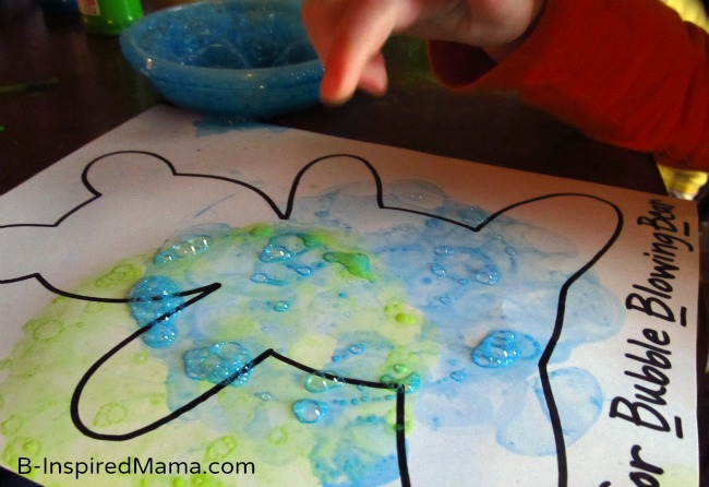 Bubble Blowing Bear Letter B Activity from See Hear Do at B-InspiredMama.com