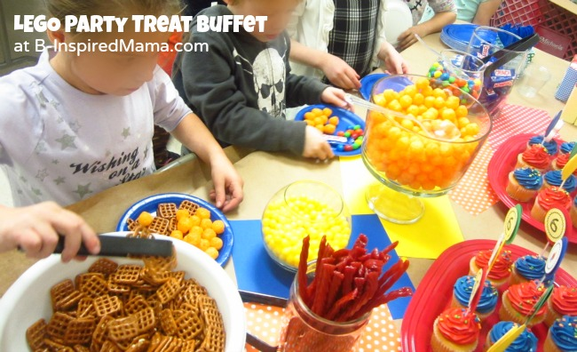 LEGO Birthday Party Treat Buffet at B-Inspired Mama