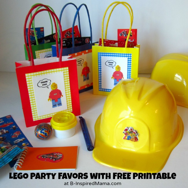 LEGO Party Favors with Free Printable from B-Inspired Mama