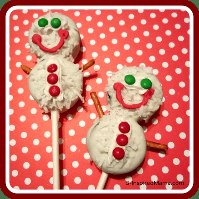 Kids in the Kitchen – Snowman Cookie Pop Recipe