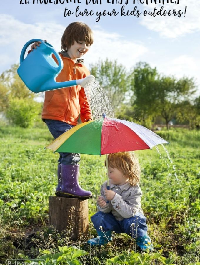 24 Awesome but Easy Outdoor Activities to Lure Kids from Tech