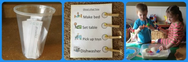 Turn off Technology and Play Ideas from Let's Grow Speech and B-InspiredMama.com