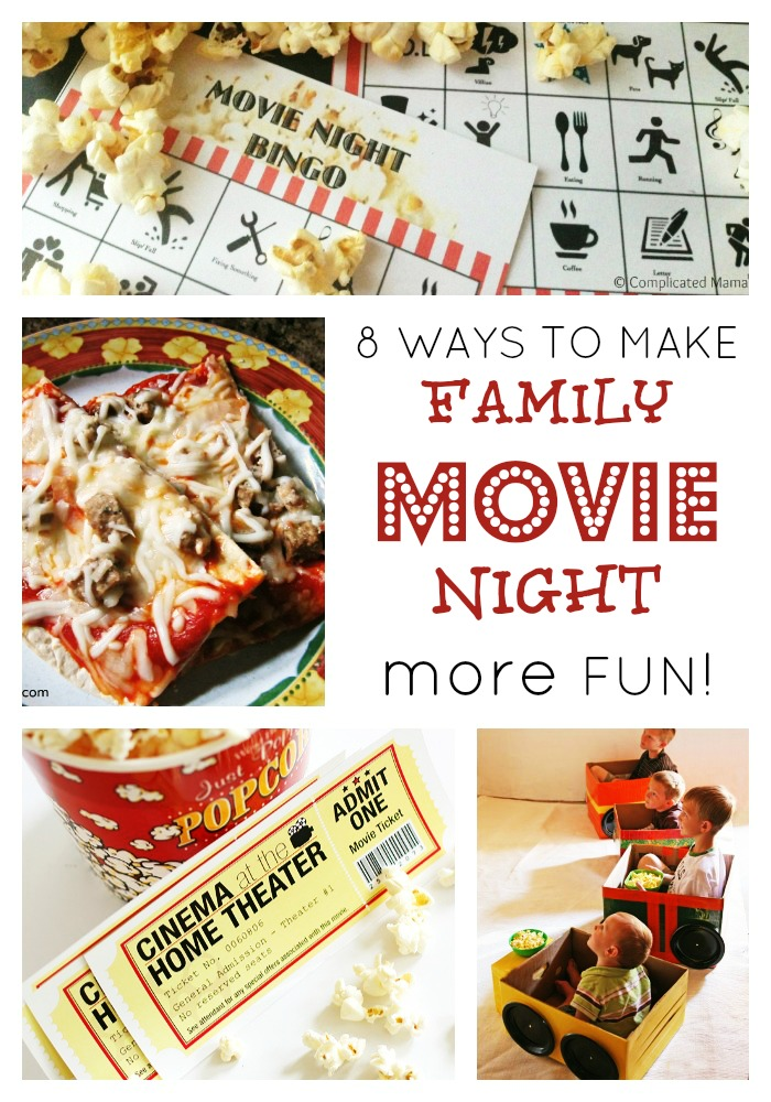 Make Family Movie Night More Fun at B-InspiredMama.com