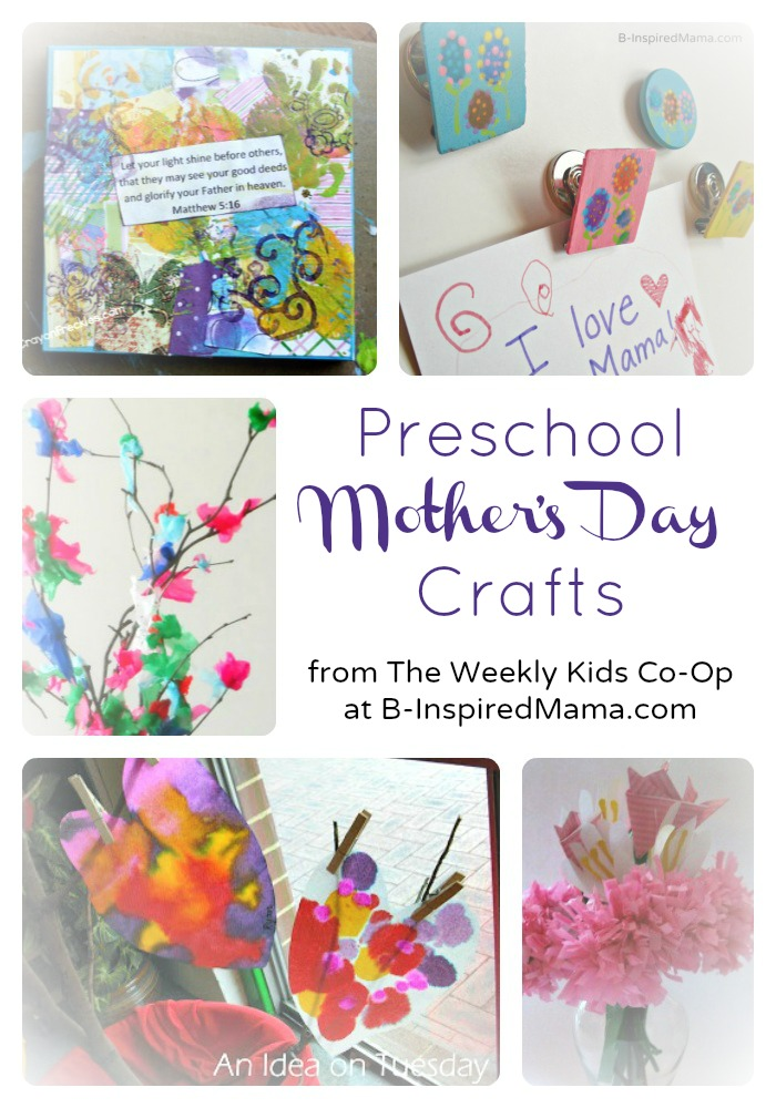 Cute preschool mother 39 s day crafts for Craft gifts for mom