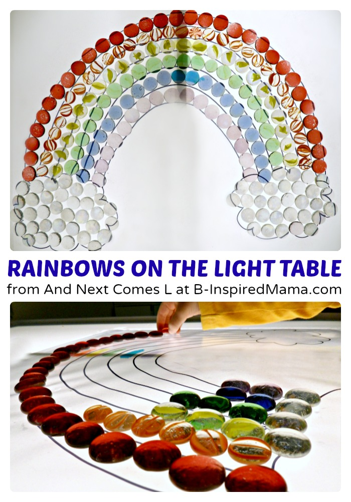 Rainbow Light Table Play