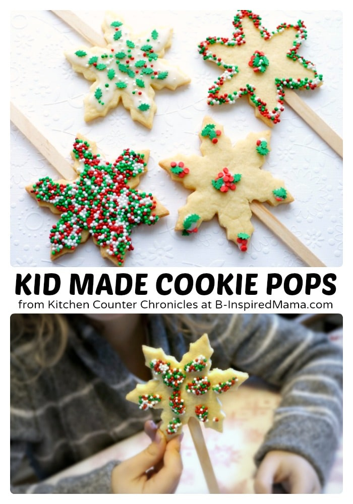 Holiday Sugar Cookie Pops