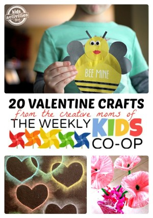 20 Creative Valentine Crafts for Kids at B-Inspired Mama