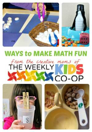 Creative Ways to Make Math Fun from The Weekly Kids Co-Op Link Party at B-Inspired Mama