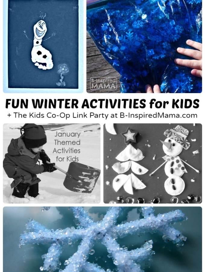 Fun Winter Activities + The Kids Co-Op Link Party