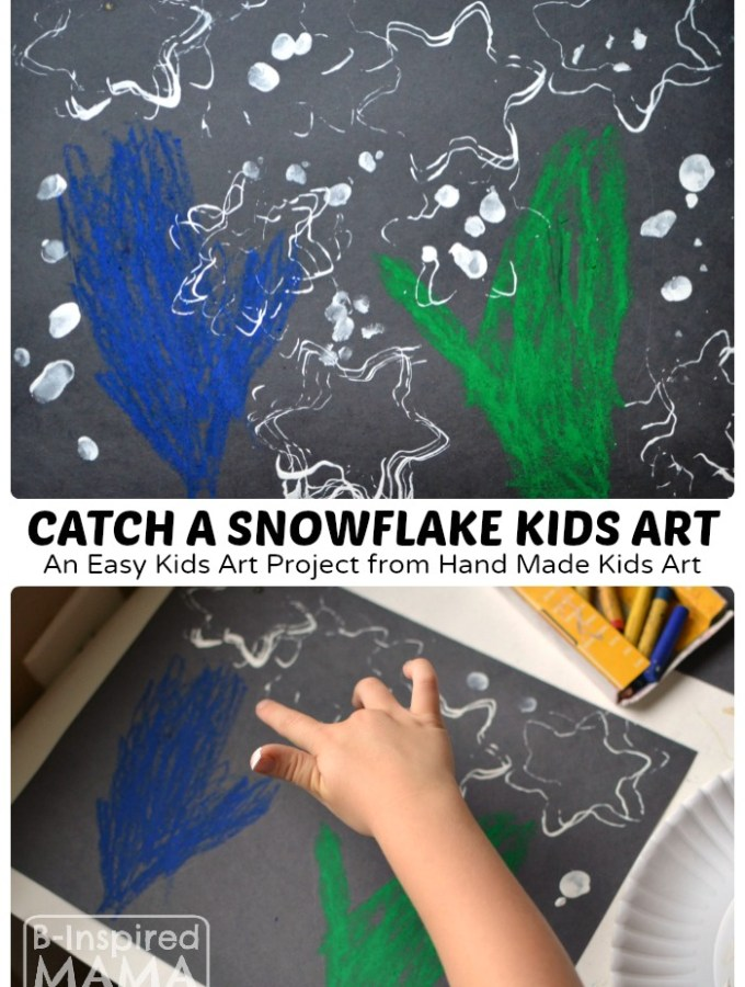 Catch a Snowflake Art Project for Kids