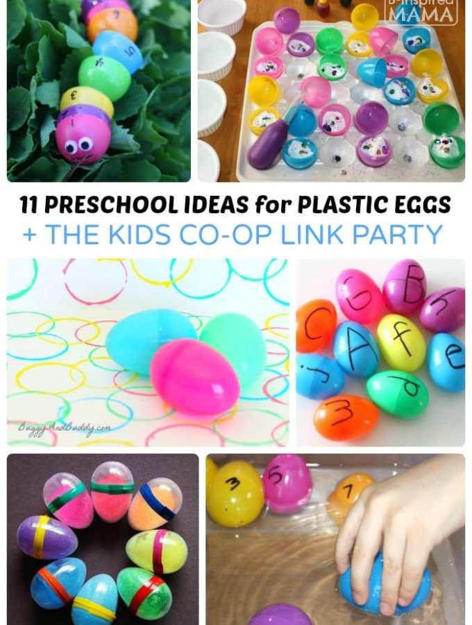Preschool Easter Activities using Plastic Eggs