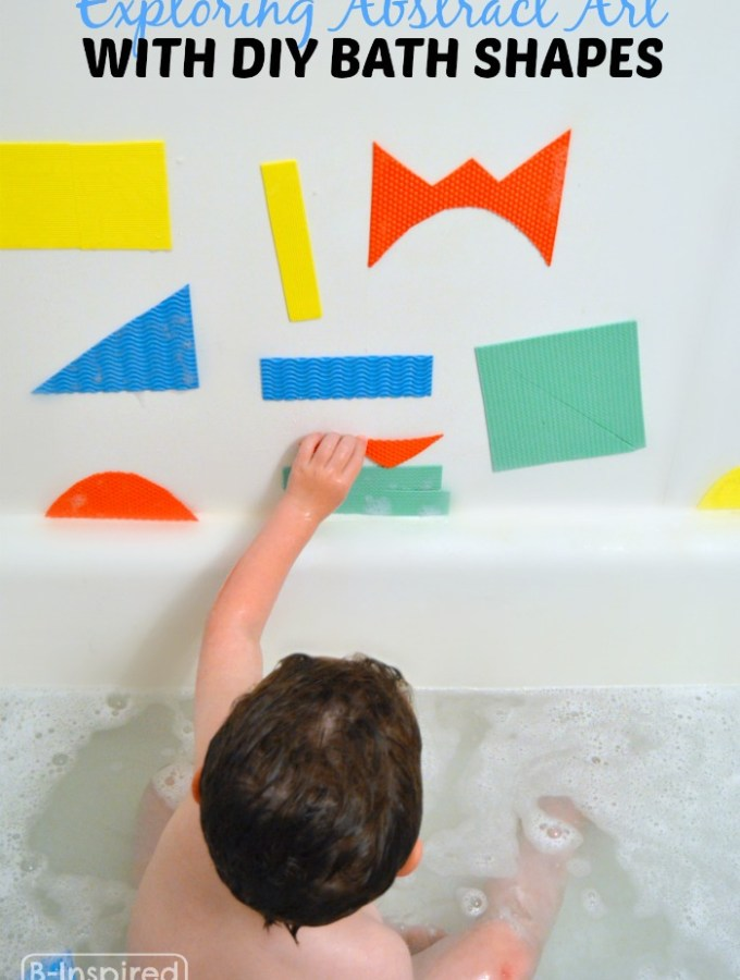 DIY Kids Bath Shapes for Abstract Art Fun