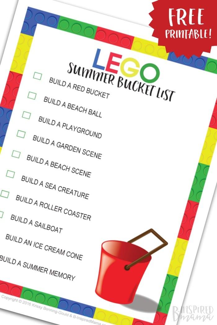 Free Printable: Fun Summer LEGO Building Ideas