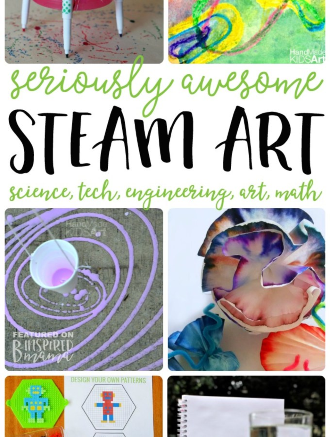 7 STEAM Art Activities your kids will love - at B-Inspired Mama