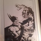 Batman/Swamp Thing print signed by the great Bernie Wrightson RIP.
