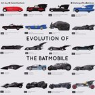 Evolution of The Batmobile, via @historyofthebatman [Instagram]