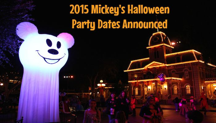 2015 Mickey's Halloween Party Dates Announced