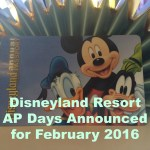 Disneyland Resort AP Days