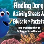 Finding Dory Activity Sheets and Educator Packets