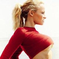 Pamela Anderson is all underbooby for Vogue Brazil