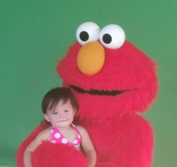 Baby Isabella with Elmo