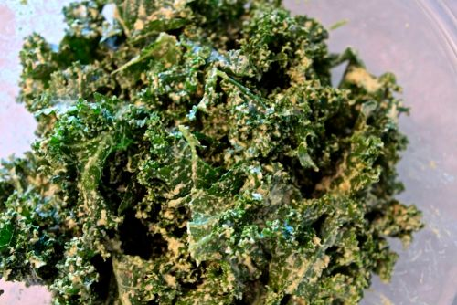 cilantro lime kale chips recipe 1 head of kale 3 4 cups of raw cashews ...