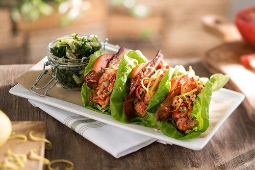 Seasons 52 Lobster BLT Lettuce Wraps