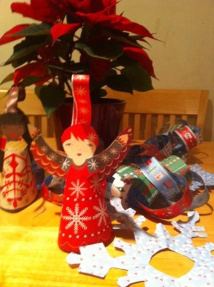 homade christmas craft, angel craft