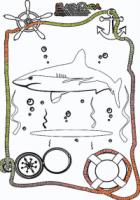 Ausmalbild-Meer-Hai