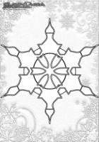 Winter Mandala Ausmalen Schnee Flocke