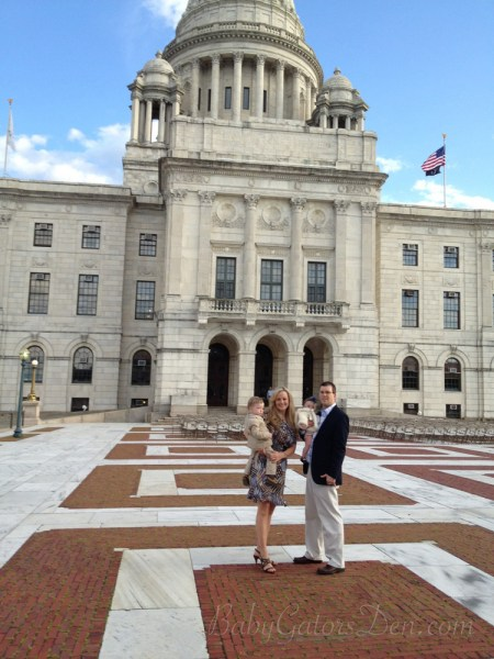At the RI State House celebrating Jackson&#039;s cord blood match